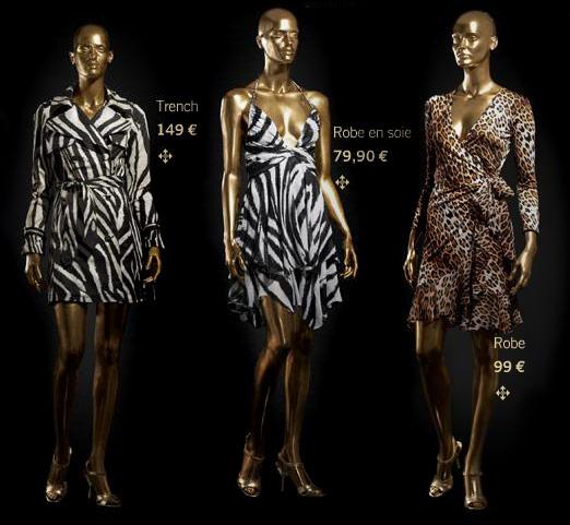 Roberto Cavalli @ H&M zebre, panthère