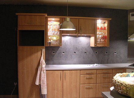 James am peintre en decors la peinture d corative de vos r ves http d - Enduit decoratif cuisine ...