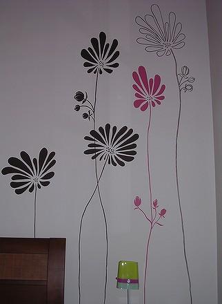 James am peintre en decors la peinture d corative de for Dessin sur mur peinture