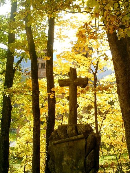 Une croix à Murbach
