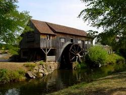 Moulin à l'écomusée d'Alsace