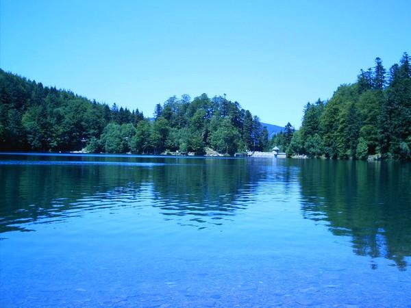 Le lac du Ballon au dessus de Guebwiller
