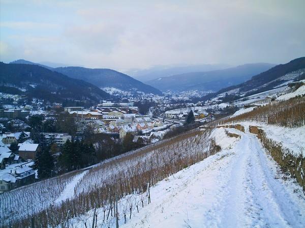 La vallée du Florival sous la neige