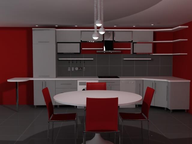 decoration cuisine blanc et rouge avec des id es int ressantes pour la conception. Black Bedroom Furniture Sets. Home Design Ideas