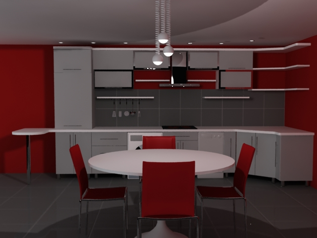 Cuisine Rouge Et  homeinterior  Bloguezcom