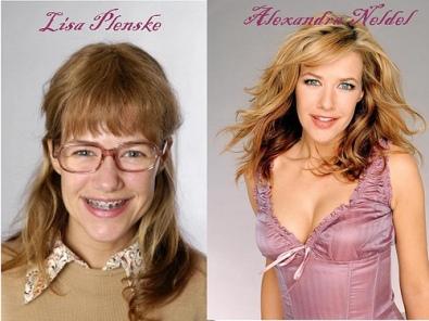 Et voilà un peu de maquillage et de camouflage et HOP on devient moche (cf le destin de Lisa sur TF1) dire que ya des filles qui complexent!